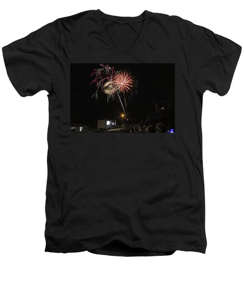 July 4th 2012 Men's V-Neck T-Shirt by Tom Gort