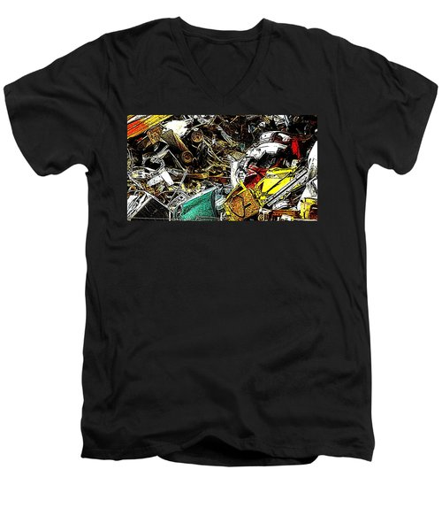Men's V-Neck T-Shirt featuring the photograph Junky Treasure by Lydia Holly