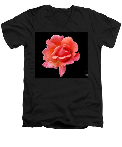 Just Peachy Men's V-Neck T-Shirt by Cindy Manero