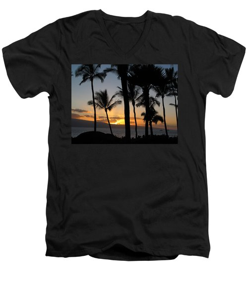 Ka'anapali Sunset Men's V-Neck T-Shirt