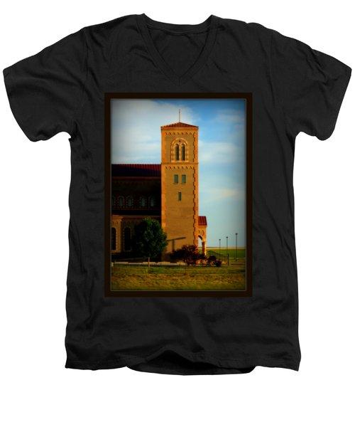 Kansas Architecture Men's V-Neck T-Shirt by Jeanette C Landstrom