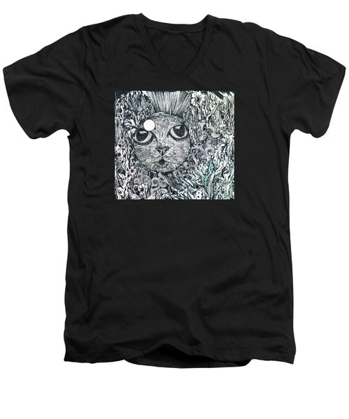 Cat In A Fish Bowl Men's V-Neck T-Shirt