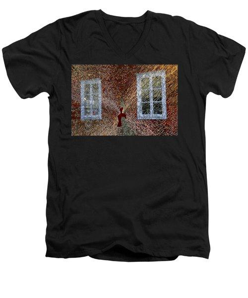 Kosta Shattered Men's V-Neck T-Shirt
