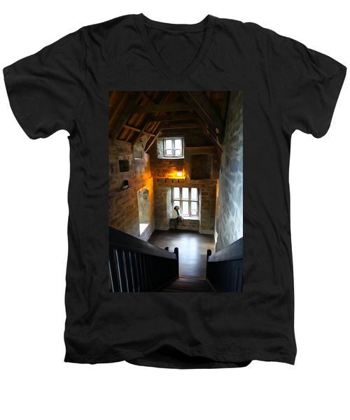 Men's V-Neck T-Shirt featuring the photograph Lady In Waiting  by Charlie and Norma Brock