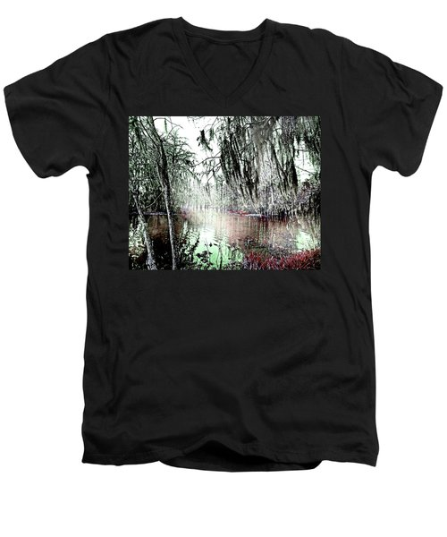 Men's V-Neck T-Shirt featuring the photograph Lake Martin Swamp by Lizi Beard-Ward