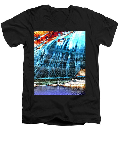 Lake Powell Reflection Men's V-Neck T-Shirt by Rebecca Margraf