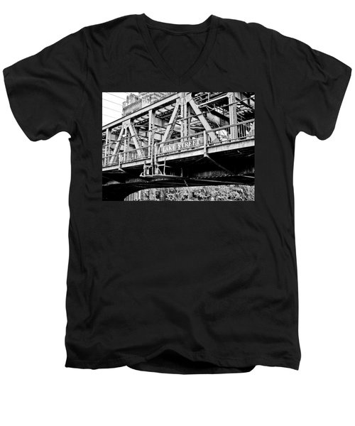 Lake Street Bridge Men's V-Neck T-Shirt