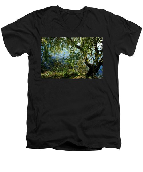 Lakeside Tree Men's V-Neck T-Shirt