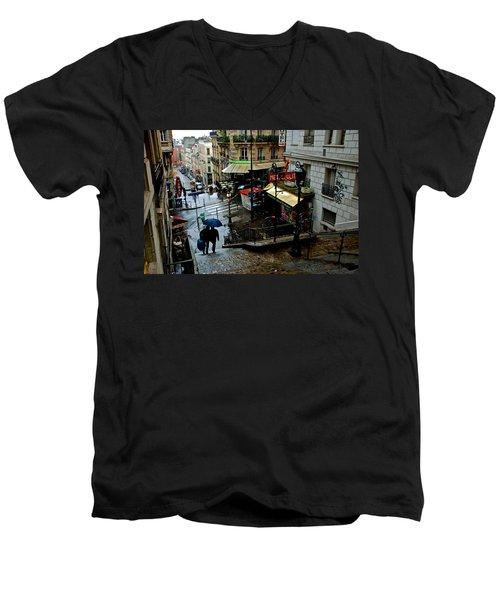 Lamarck-caulaincourt Metro Stop Men's V-Neck T-Shirt