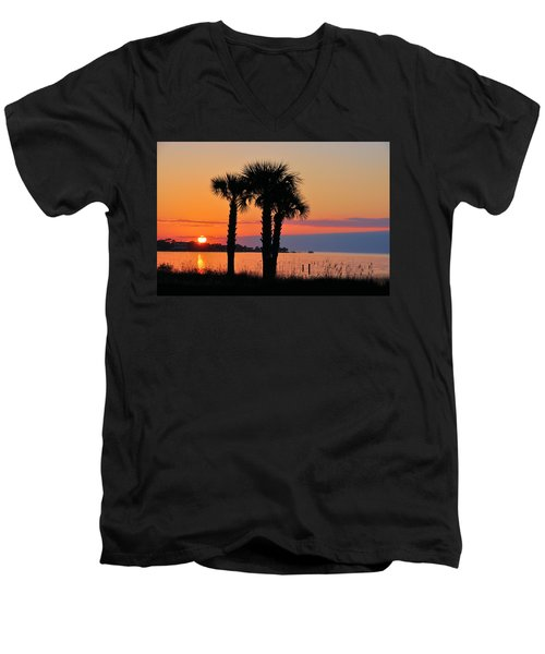 Men's V-Neck T-Shirt featuring the photograph Land Of Heart's Desire by Jan Amiss Photography
