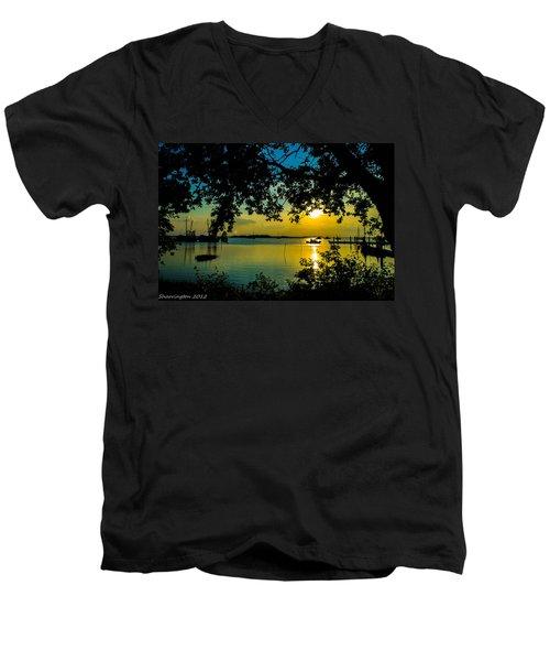 Last Patroll Tonight Men's V-Neck T-Shirt by Shannon Harrington