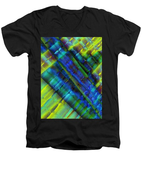 Men's V-Neck T-Shirt featuring the photograph Layers Of Blue by David Pantuso