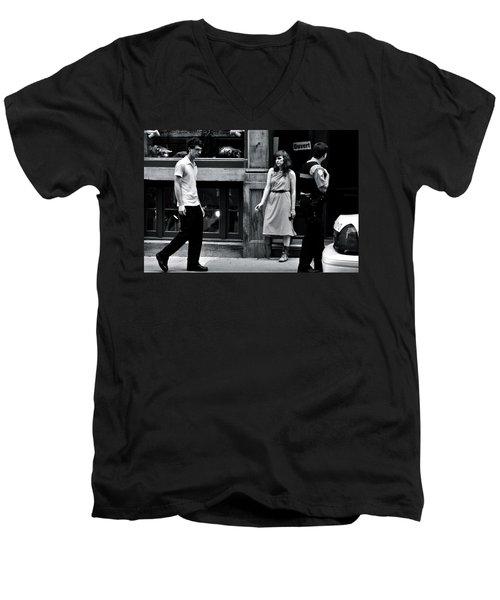 L'ennui  Men's V-Neck T-Shirt by Valerie Rosen