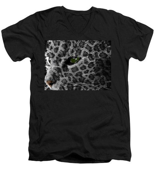 Leopard Within Men's V-Neck T-Shirt