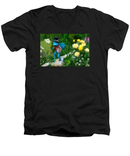 Lessons In Lifes Garden Men's V-Neck T-Shirt