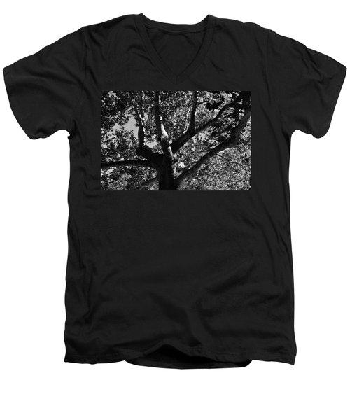 Men's V-Neck T-Shirt featuring the photograph Light And Dark by Brian Hughes