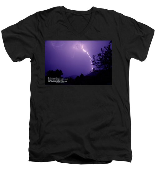 Lightning Over The Rogue Valley Men's V-Neck T-Shirt by Mick Anderson