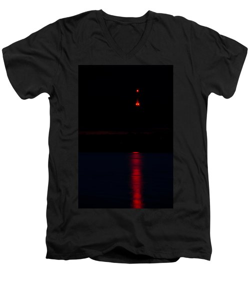 Lights In The Night Men's V-Neck T-Shirt