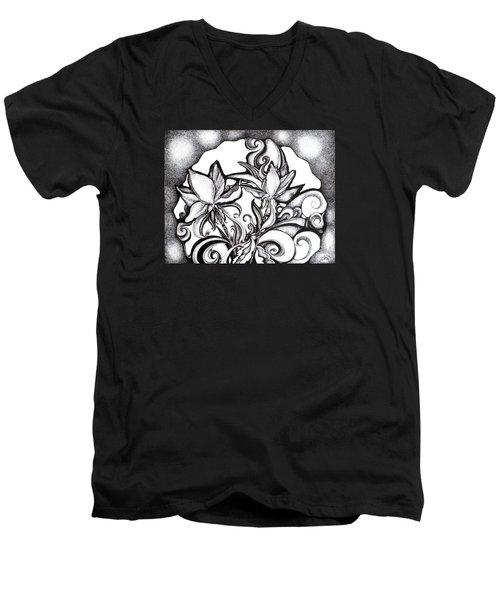 Lily Garden Men's V-Neck T-Shirt