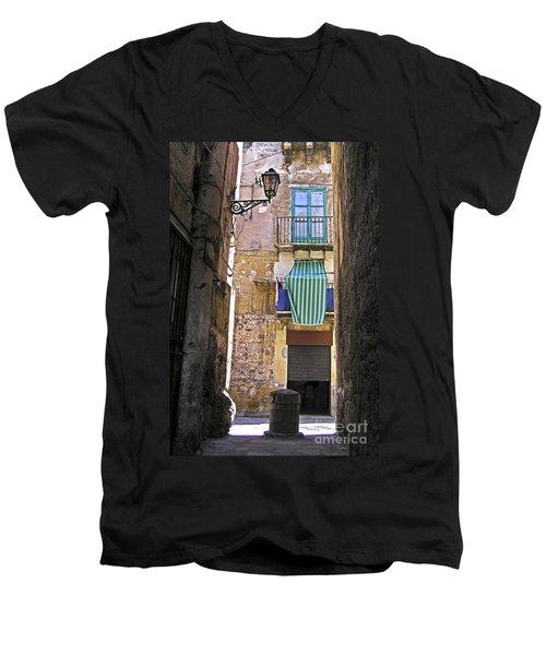 Little Street Of Palermo Men's V-Neck T-Shirt