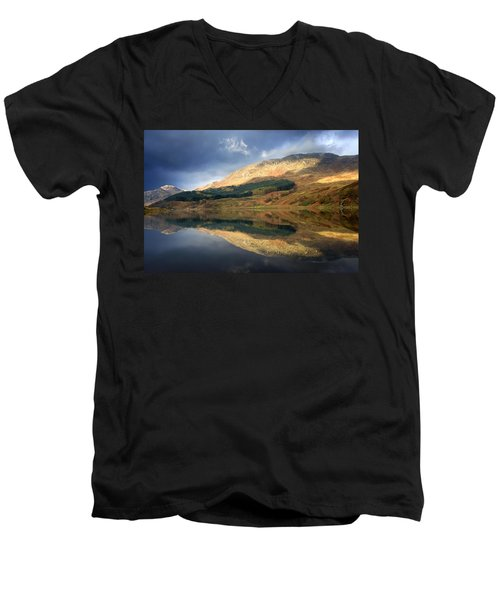 Men's V-Neck T-Shirt featuring the photograph Loch Lobhair, Scotland by John Short