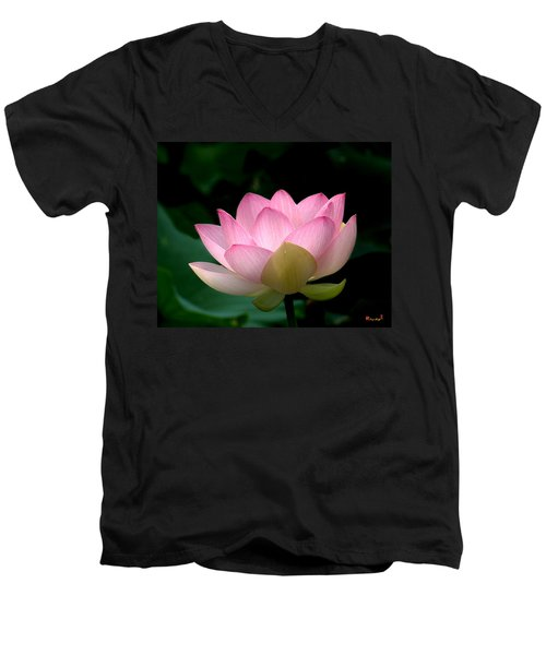 Lotus Beauty--blushing Dl003 Men's V-Neck T-Shirt
