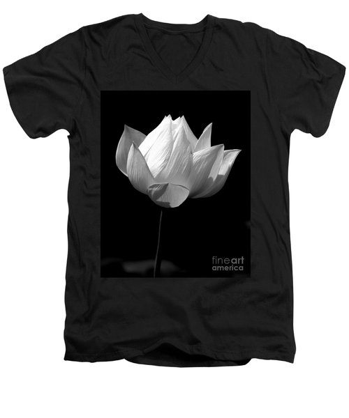 Lotus Bw Men's V-Neck T-Shirt