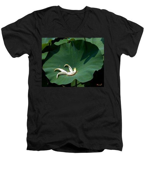 Lotus Leaf--castoff IIi Dl060 Men's V-Neck T-Shirt