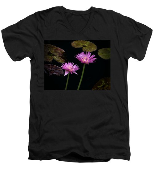 Lotus Water Lilies Men's V-Neck T-Shirt