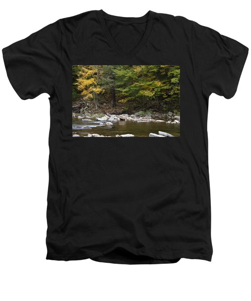 Loyalsock Creek Flowing Gently Men's V-Neck T-Shirt
