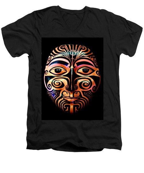 Maori Mask Men's V-Neck T-Shirt