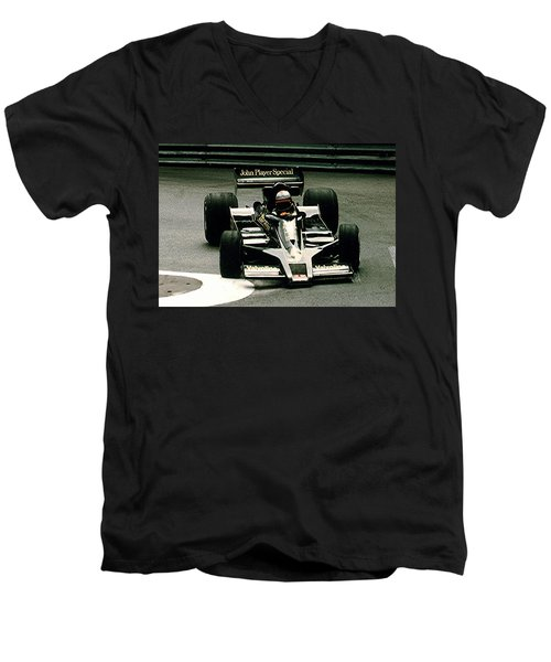 Men's V-Neck T-Shirt featuring the photograph Mario World Champ by Michael Nowotny