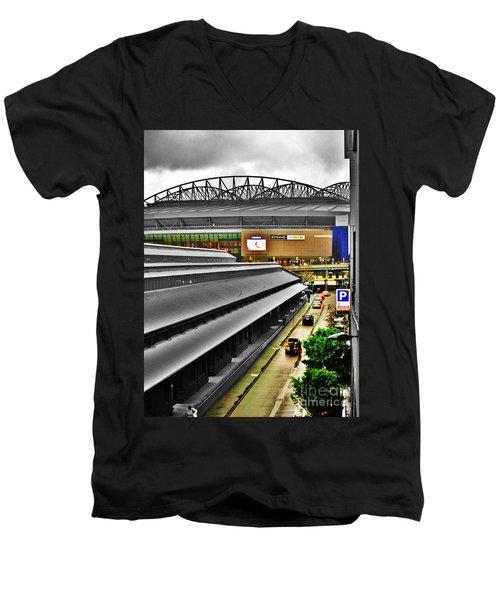Men's V-Neck T-Shirt featuring the photograph Melbourne Docklands by Blair Stuart