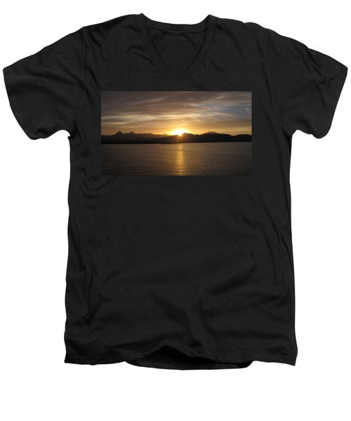 Men's V-Neck T-Shirt featuring the photograph Mexican Sunset by Marilyn Wilson