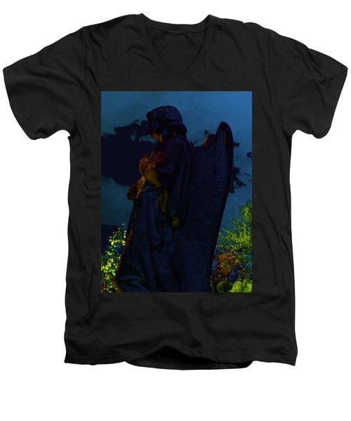 Midnight Angel Men's V-Neck T-Shirt