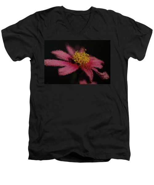 Midnight Bloom Men's V-Neck T-Shirt by Lauren Radke