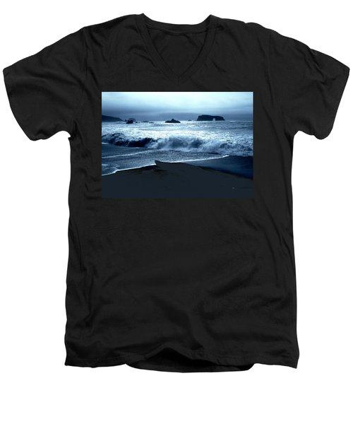 Arch Rock Northern California Coast Men's V-Neck T-Shirt