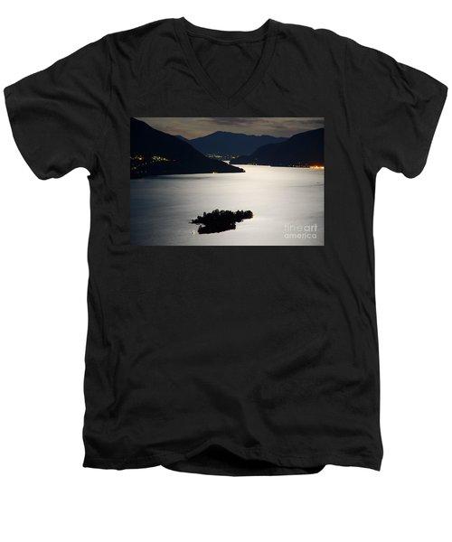 Moon Light Over Islands Men's V-Neck T-Shirt
