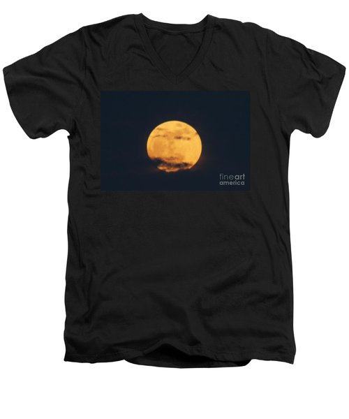 Men's V-Neck T-Shirt featuring the photograph Moon by William Norton