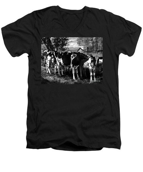 Morning Sun Cascading Intricate Shadows Men's V-Neck T-Shirt
