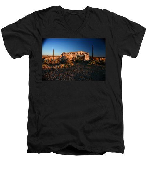 Men's V-Neck T-Shirt featuring the photograph Mountain Lions At Two Guns by Lon Casler Bixby