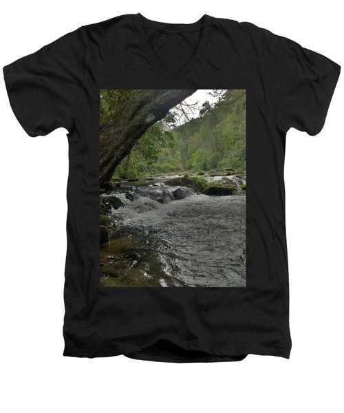 Men's V-Neck T-Shirt featuring the photograph Mountain Stream by Janice Spivey