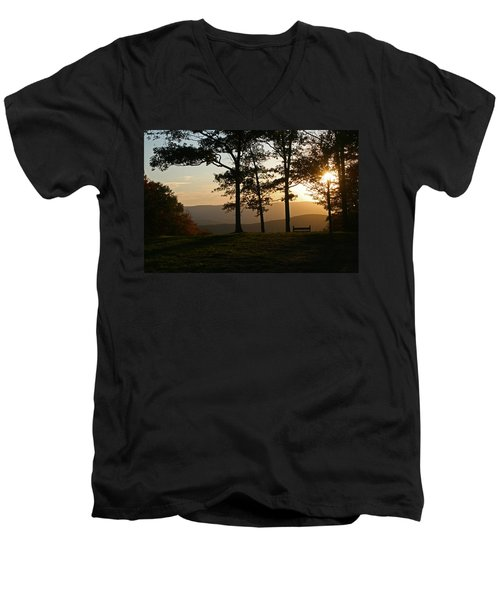 Mt Pisqah Sunset 2 Men's V-Neck T-Shirt