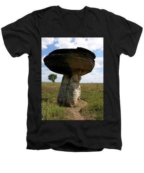 Mushroom Rock Men's V-Neck T-Shirt