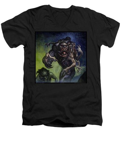 Mutants  Men's V-Neck T-Shirt by Tony Koehl