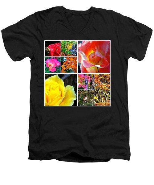 My #9ofpride Collage Men's V-Neck T-Shirt