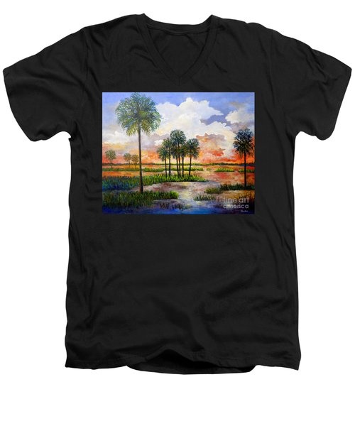 Myakka Sunset Men's V-Neck T-Shirt