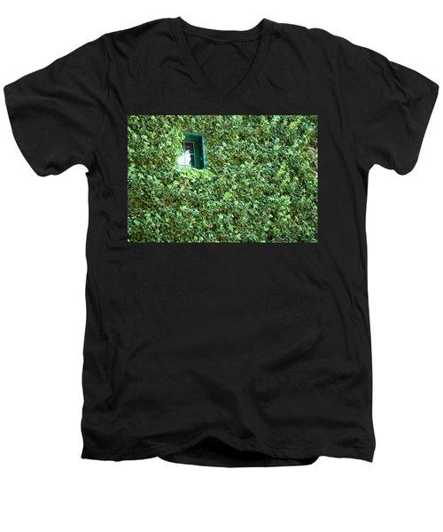 Napa Wine Cellar Window Men's V-Neck T-Shirt