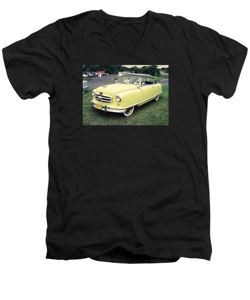 Men's V-Neck T-Shirt featuring the photograph Nash Rambler by John Schneider