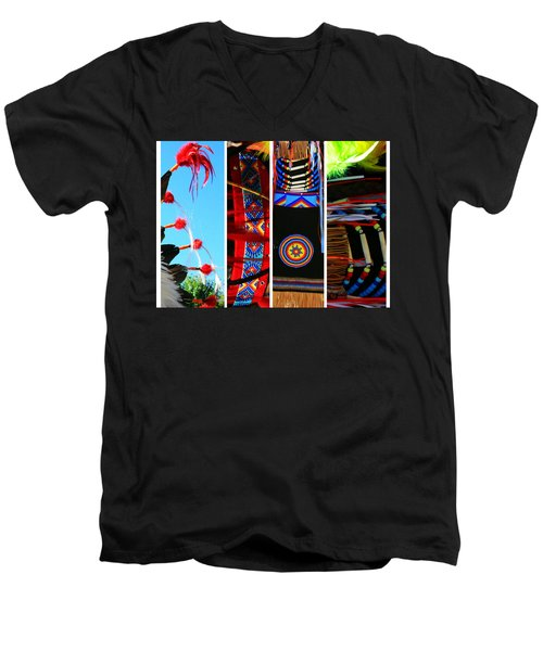 Slices Of Native American Heritage Men's V-Neck T-Shirt